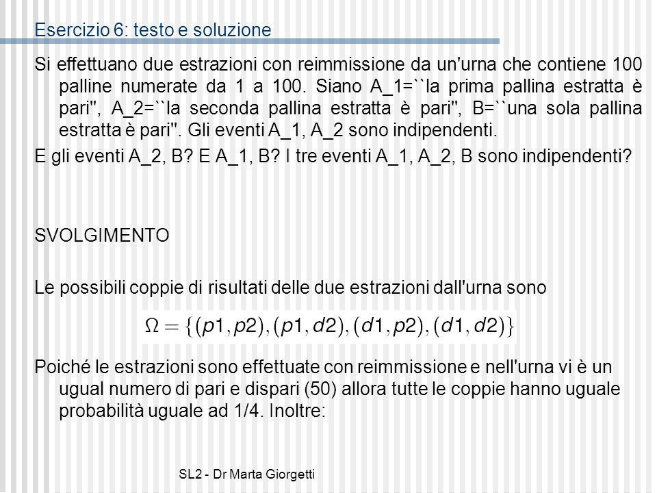 Esercizio 6: testo e soluzione