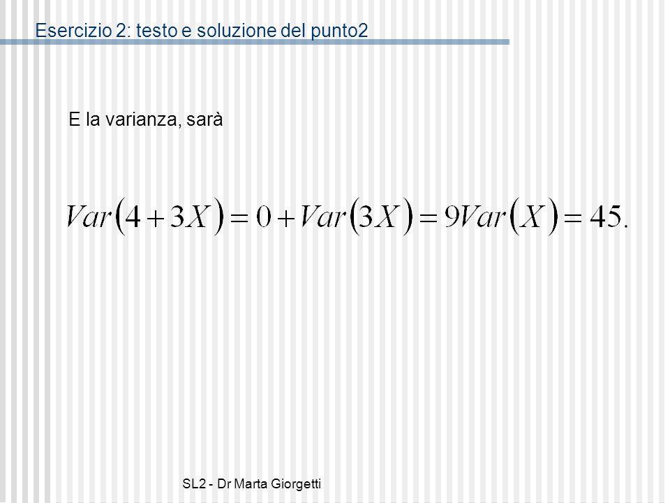 Esercizio 2: testo e soluzione del punto2