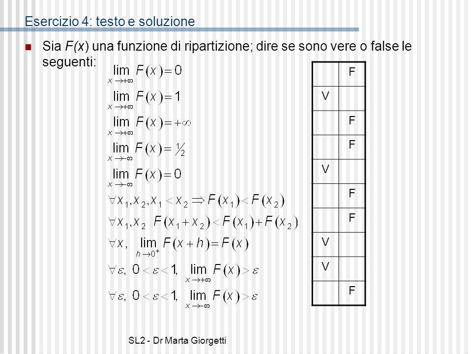 Esercizio 4: testo e soluzione