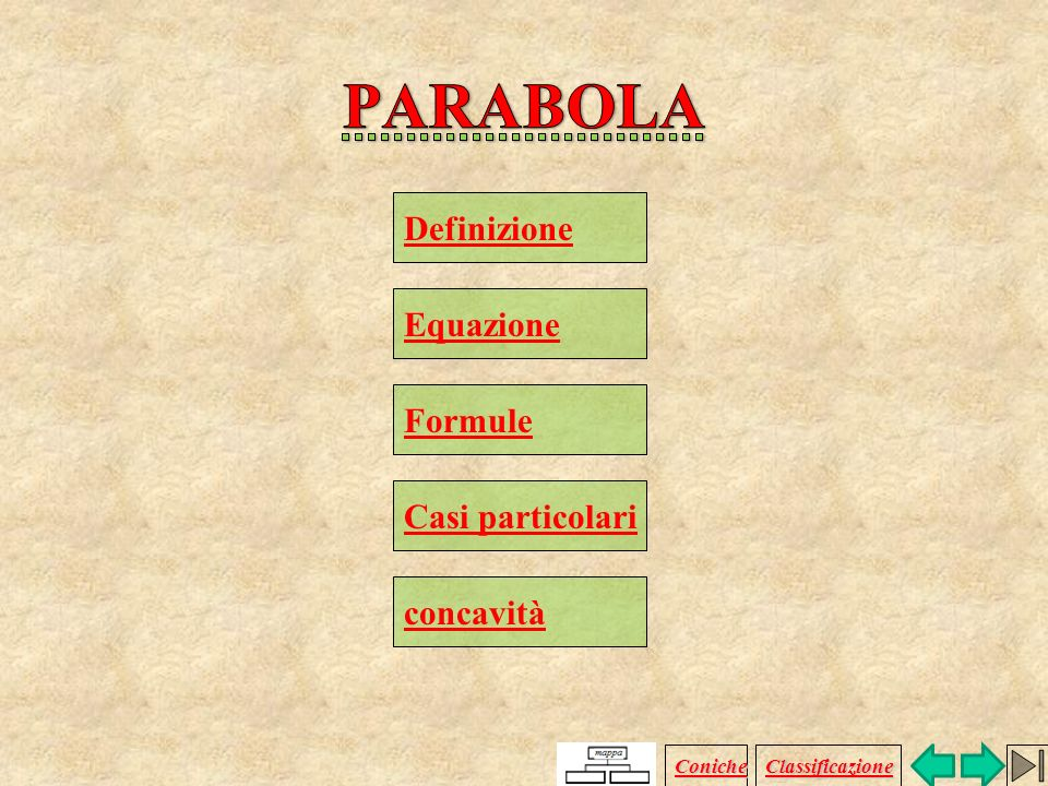 PARABOLA Definizione Equazione Formule Casi particolari concavità