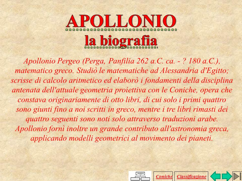 APOLLONIO la biografia