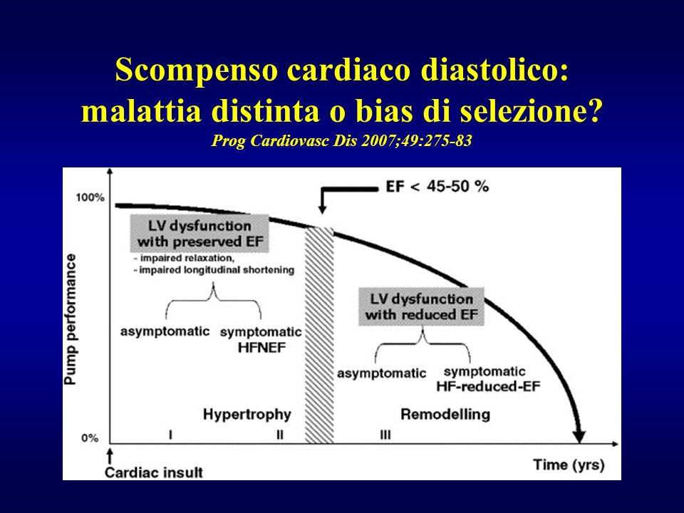 Scompenso cardiaco diastolico: malattia distinta o bias di selezione