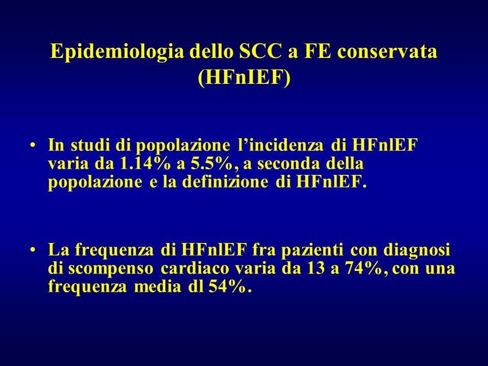 Epidemiologia dello SCC a FE conservata (HFnIEF)
