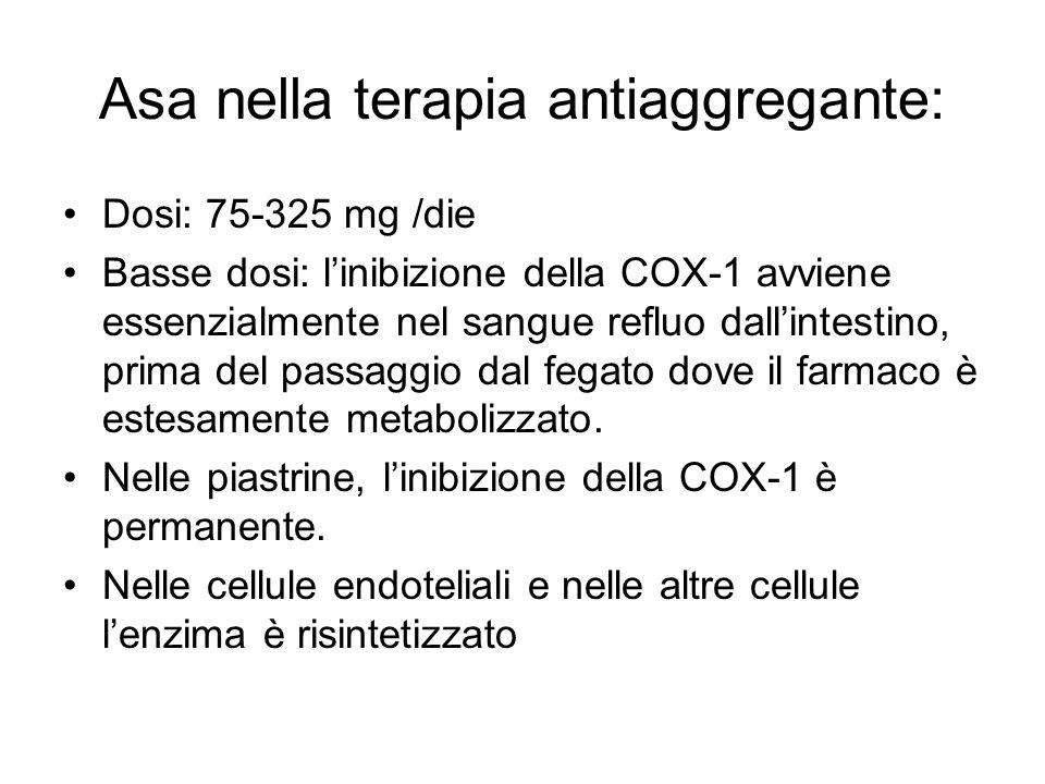 Asa nella terapia antiaggregante: