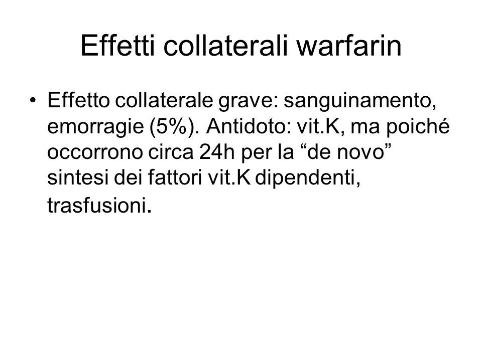 Effetti collaterali warfarin