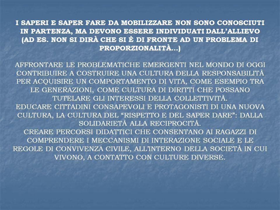 AFFRONTARE LE PROBLEMATICHE EMERGENTI NEL MONDO DI OGGI