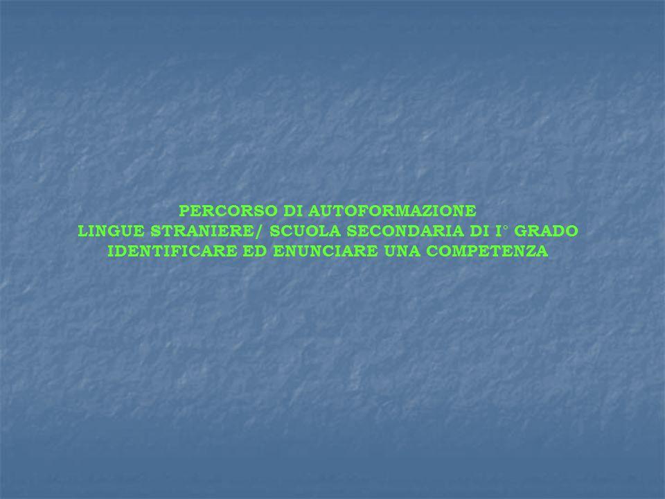 LINGUE STRANIERE/ SCUOLA SECONDARIA DI I° GRADO