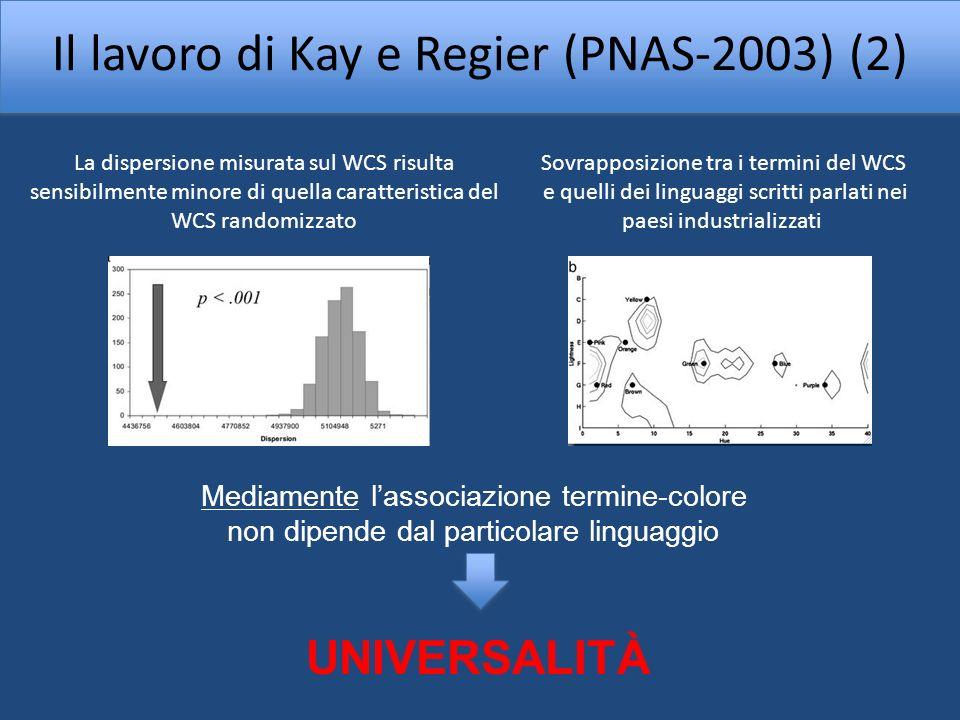 Il lavoro di Kay e Regier (PNAS-2003) (2)