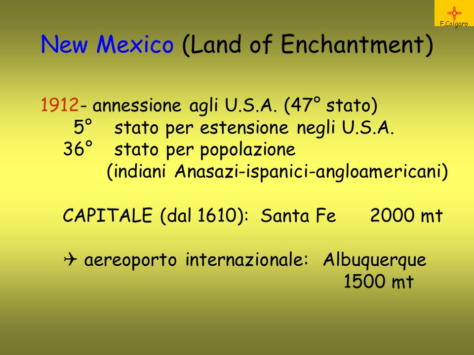 New Mexico (Land of Enchantment)