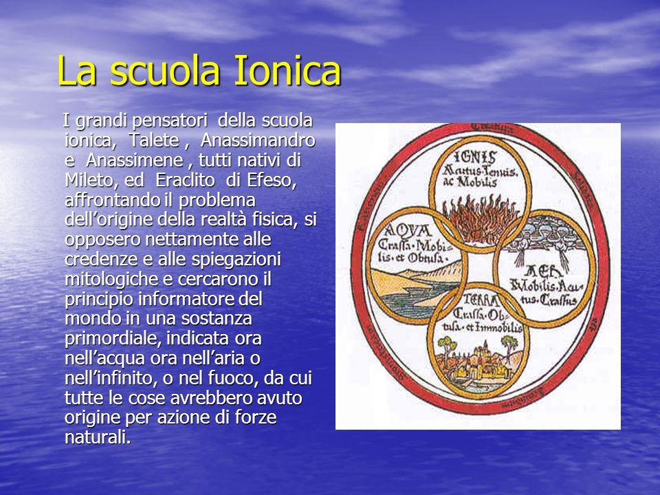 La scuola Ionica