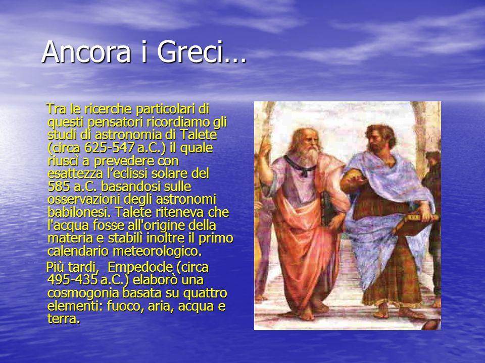 Ancora i Greci…
