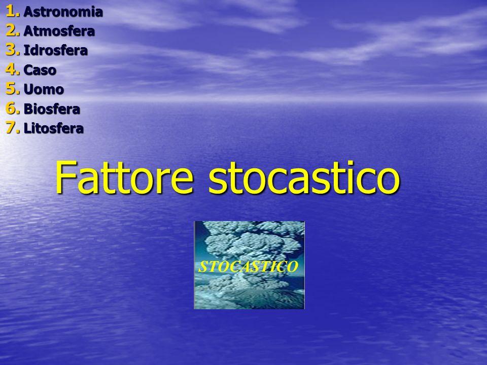 Fattore stocastico STOCASTICO Astronomia Atmosfera Idrosfera Caso Uomo