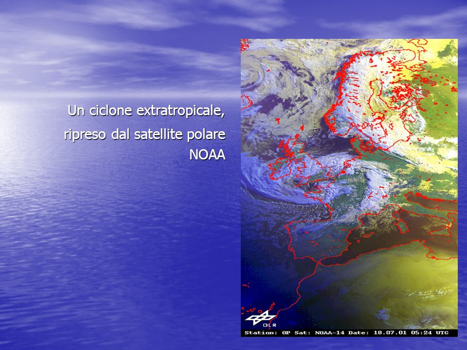 Un ciclone extratropicale,
