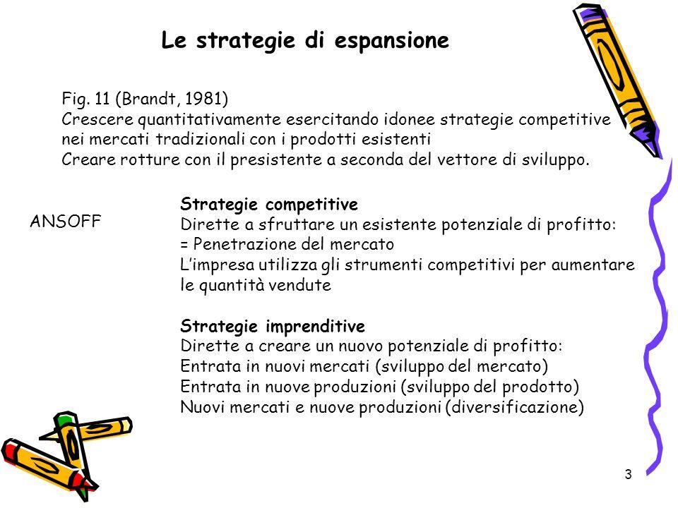 Le strategie di espansione