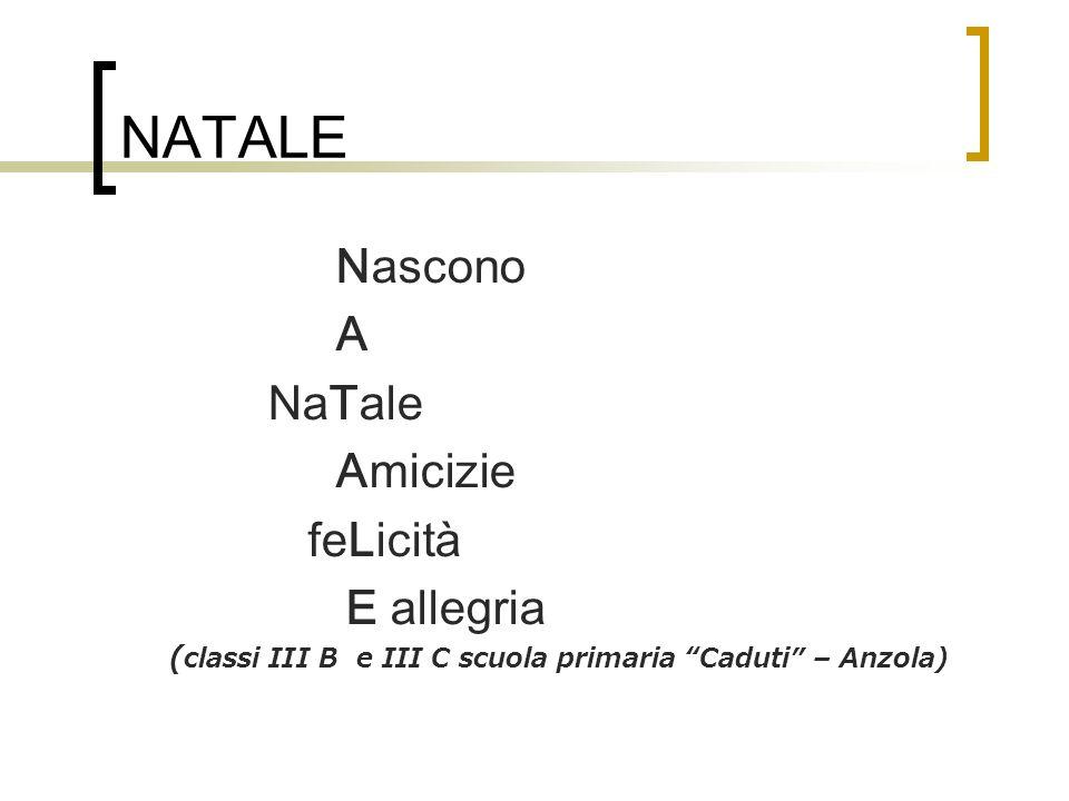 (classi III B e III C scuola primaria Caduti – Anzola)