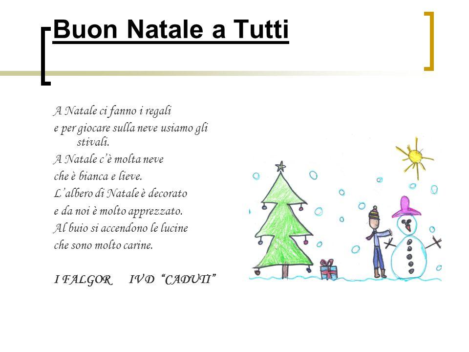 Buon Natale a Tutti A Natale ci fanno i regali