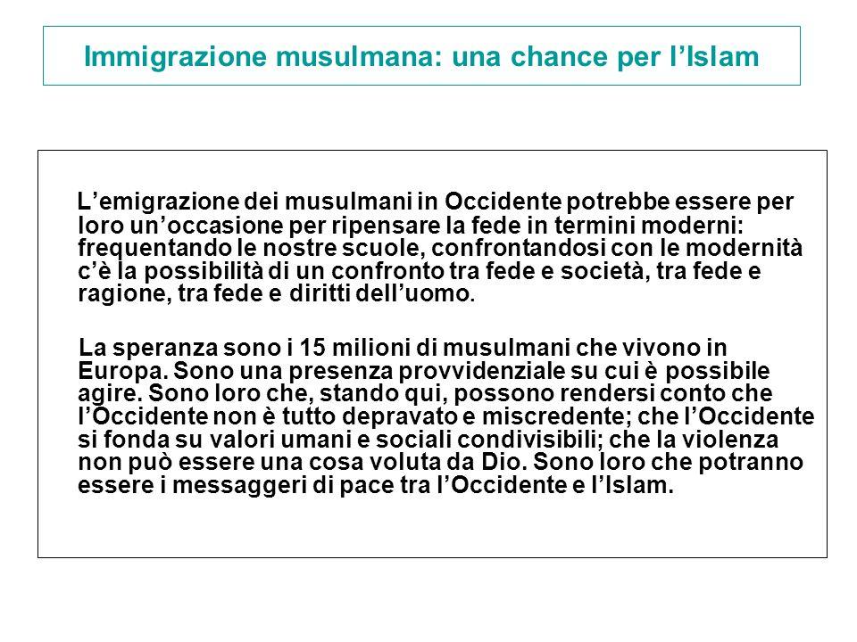 Immigrazione musulmana: una chance per l'Islam