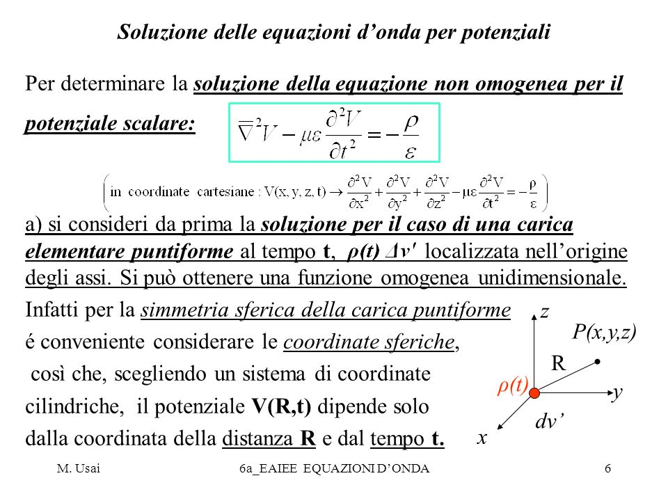 Soluzione delle equazioni d'onda per potenziali