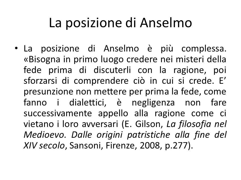 La posizione di Anselmo
