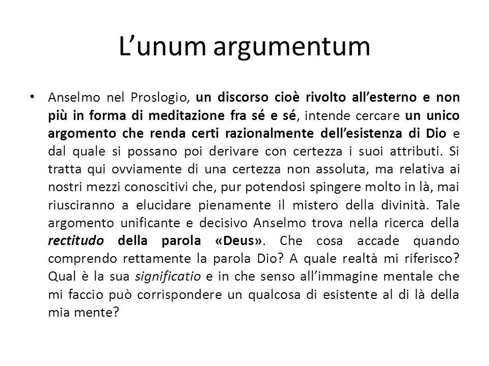 L'unum argumentum