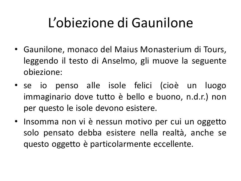 L'obiezione di Gaunilone