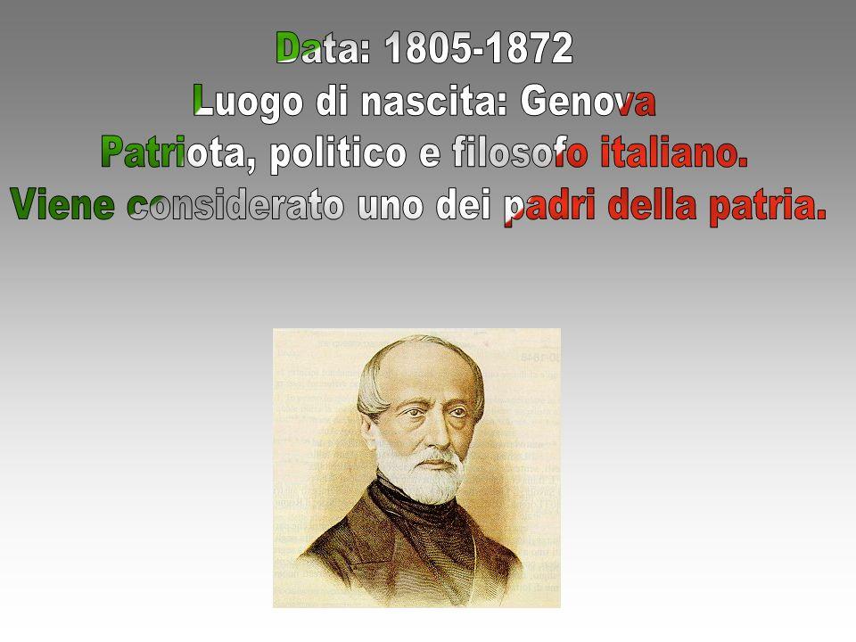 Luogo di nascita: Genova Patriota, politico e filosofo italiano.