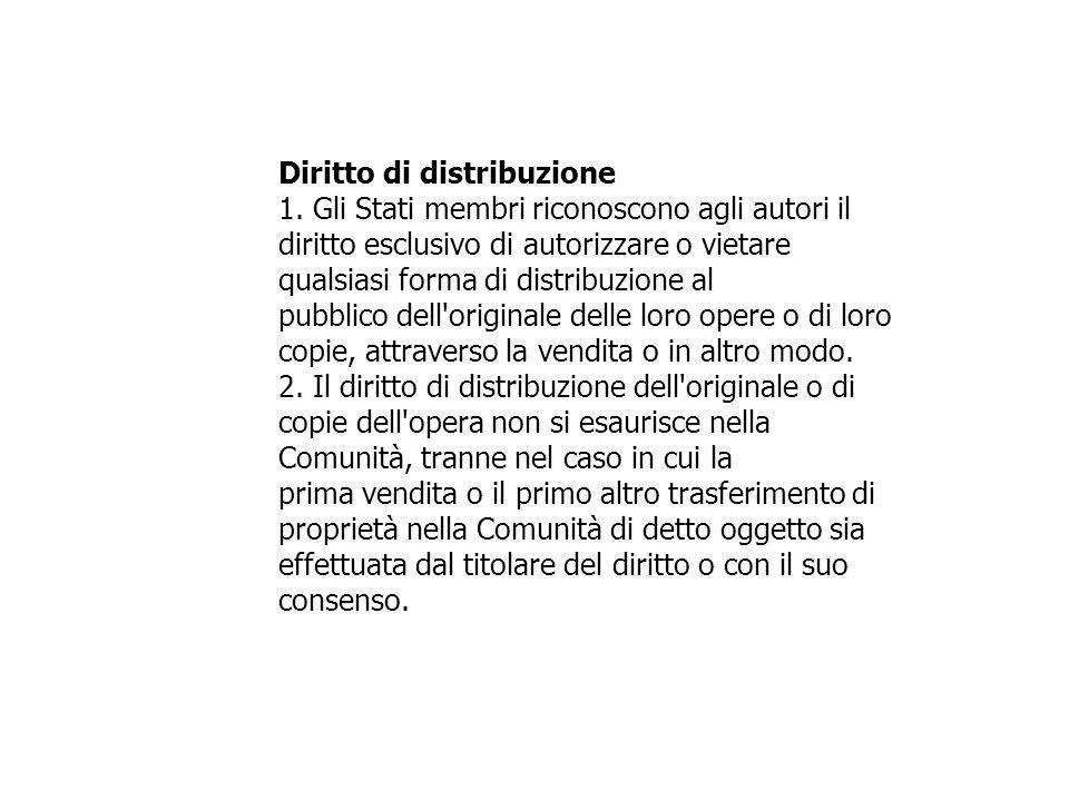 Diritto di distribuzione