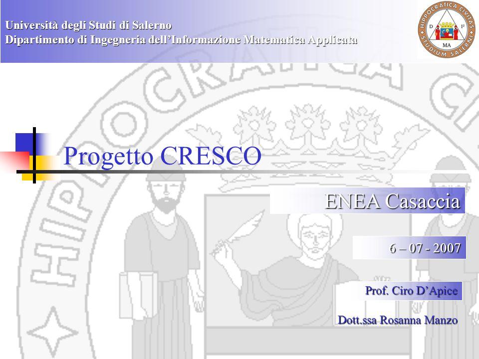 Progetto CRESCO ENEA Casaccia 6 – 07 - 2007