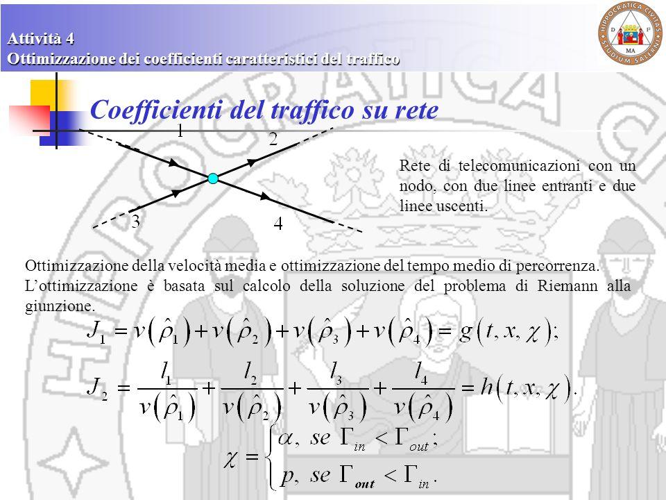 Coefficienti del traffico su rete