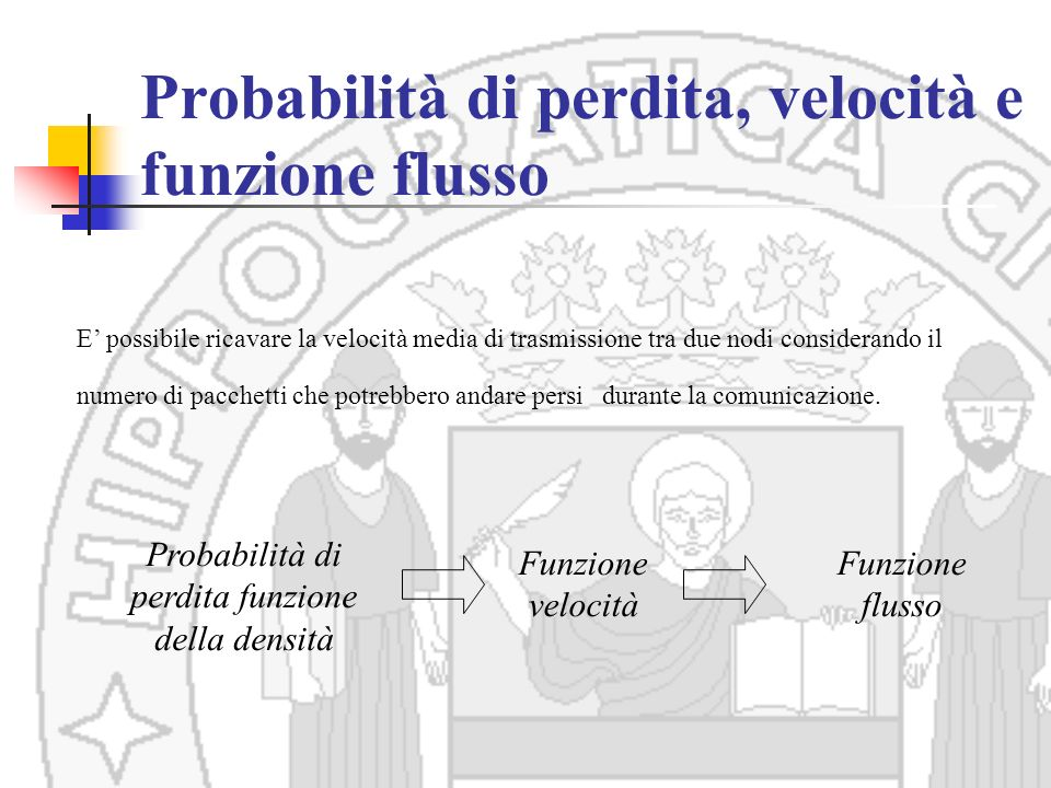 Probabilità di perdita, velocità e funzione flusso