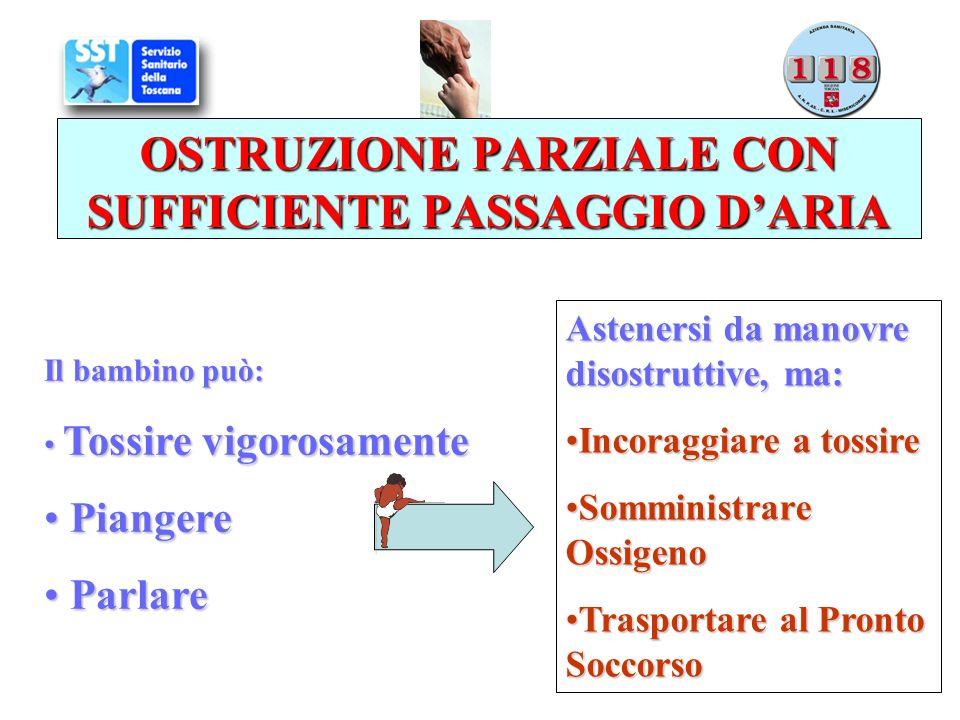 OSTRUZIONE PARZIALE CON SUFFICIENTE PASSAGGIO D'ARIA