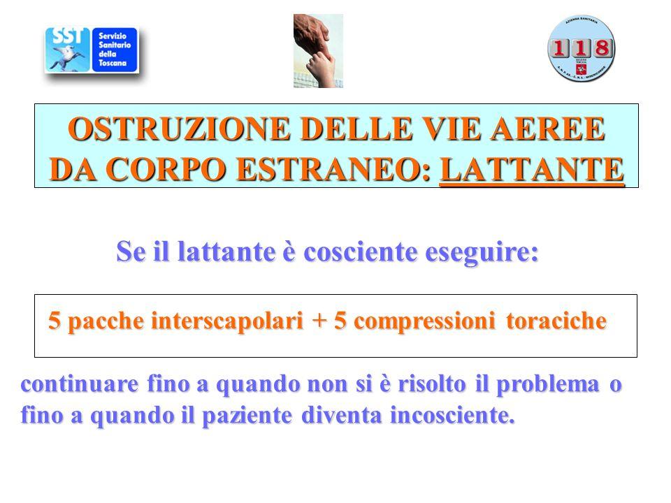 OSTRUZIONE DELLE VIE AEREE DA CORPO ESTRANEO: LATTANTE