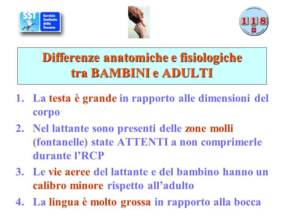 Differenze anatomiche e fisiologiche tra BAMBINI e ADULTI