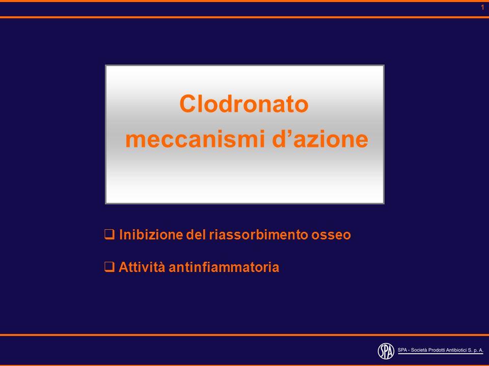 Clodronato meccanismi d'azione