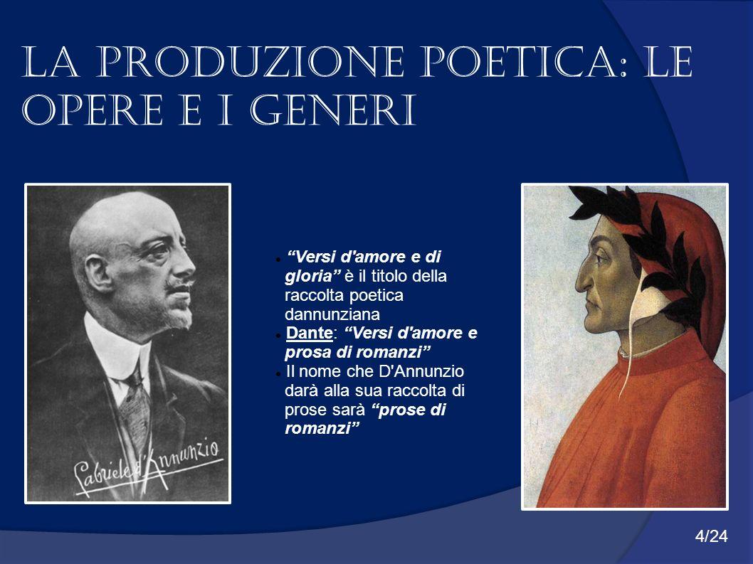 La produzione poetica: Le opere e i generi