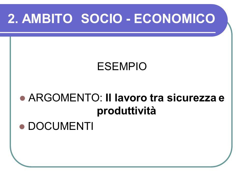 2. AMBITO SOCIO - ECONOMICO