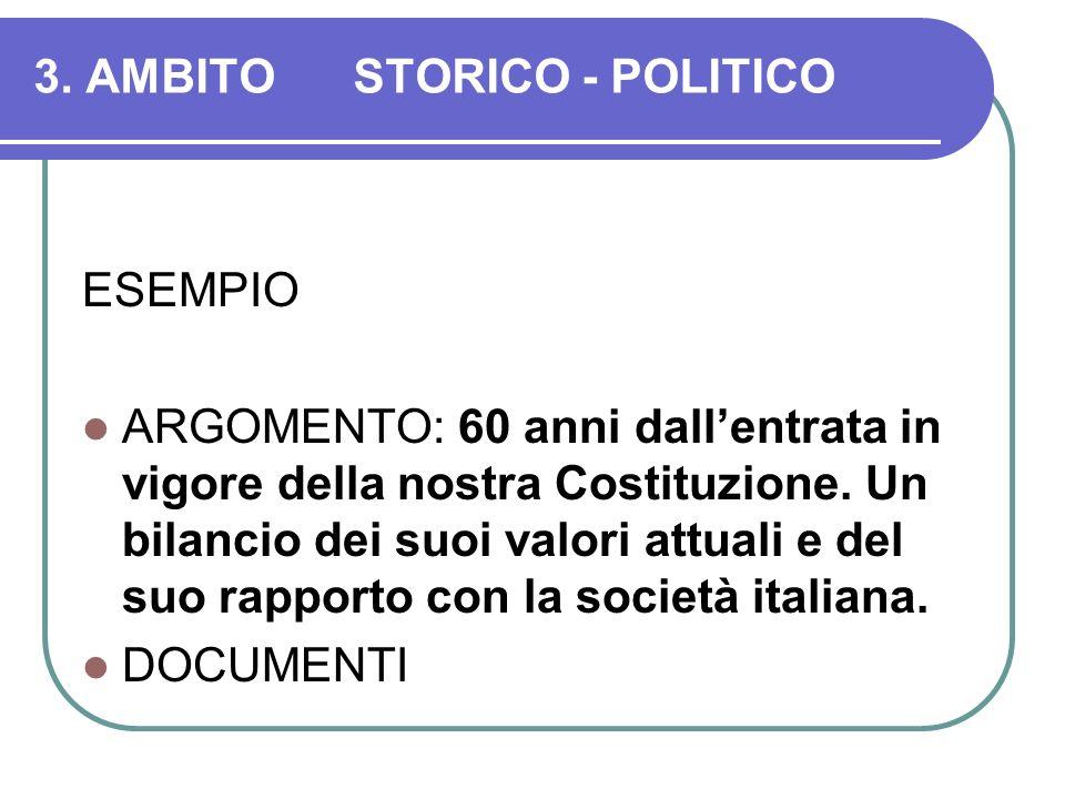 3. AMBITO STORICO - POLITICO