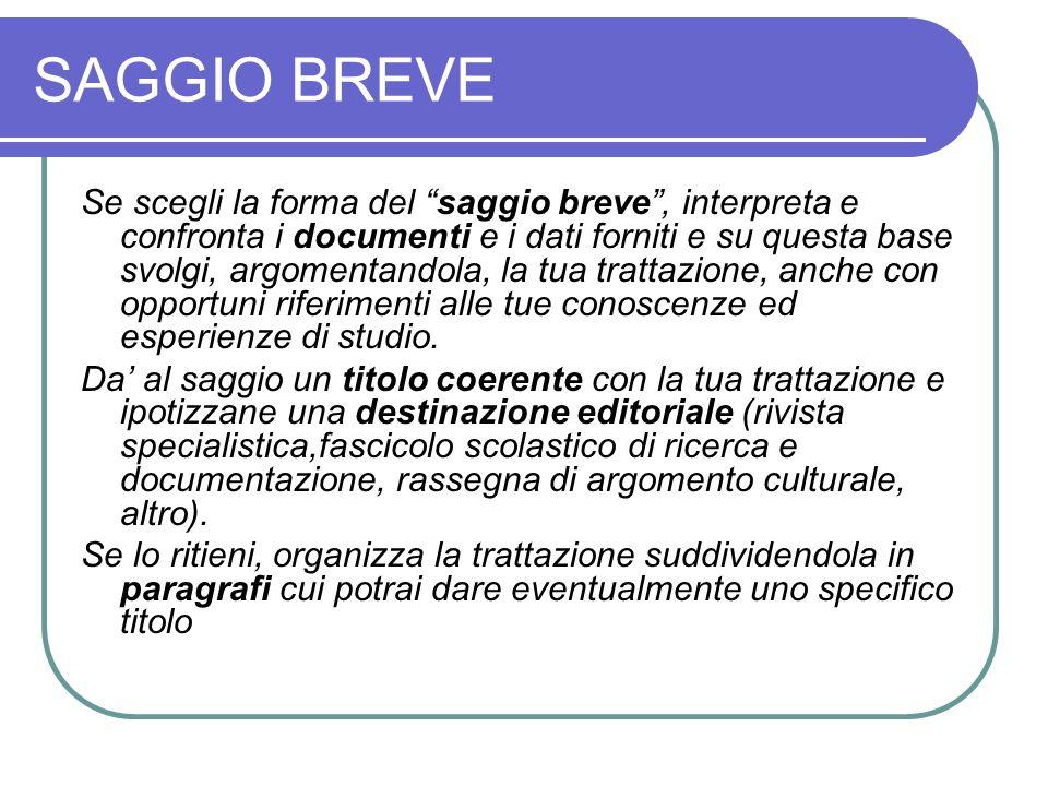 SAGGIO BREVE