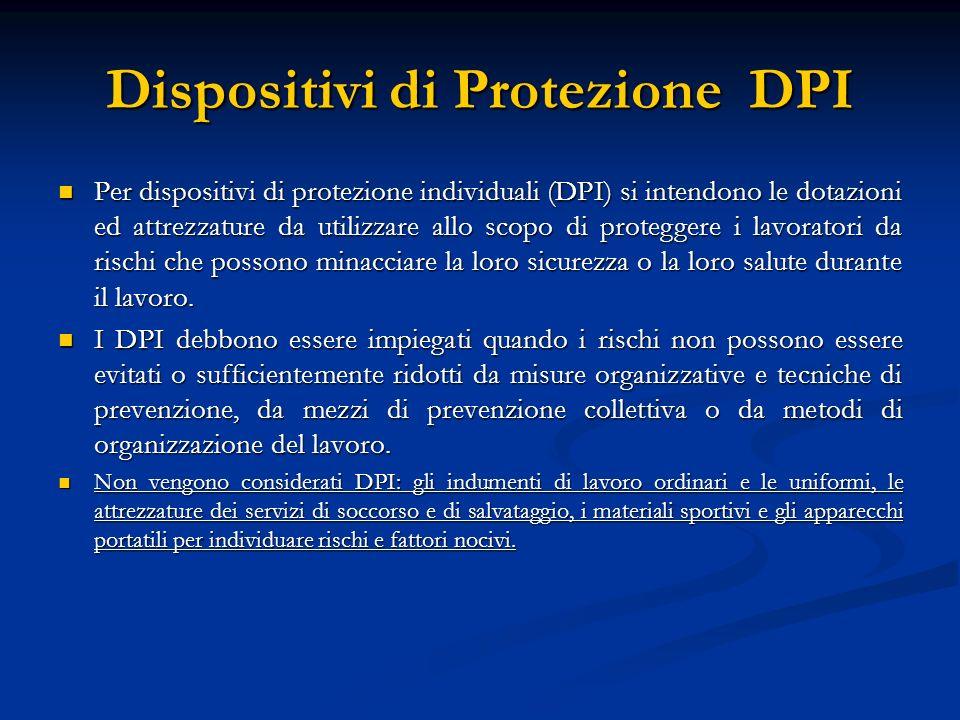 Dispositivi di Protezione DPI