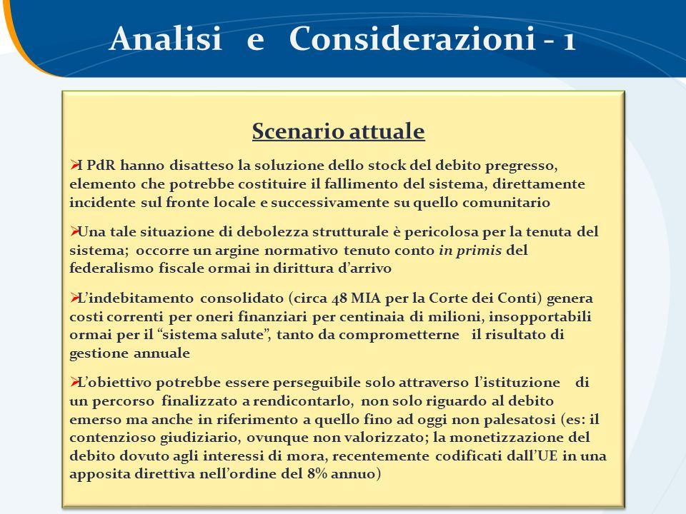 Analisi e Considerazioni - 1