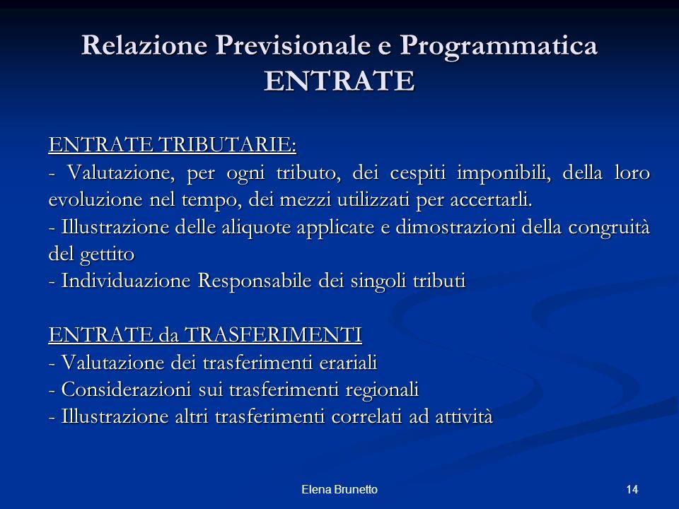 Relazione Previsionale e Programmatica ENTRATE