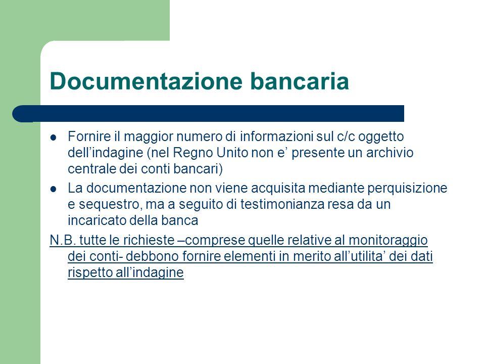Documentazione bancaria