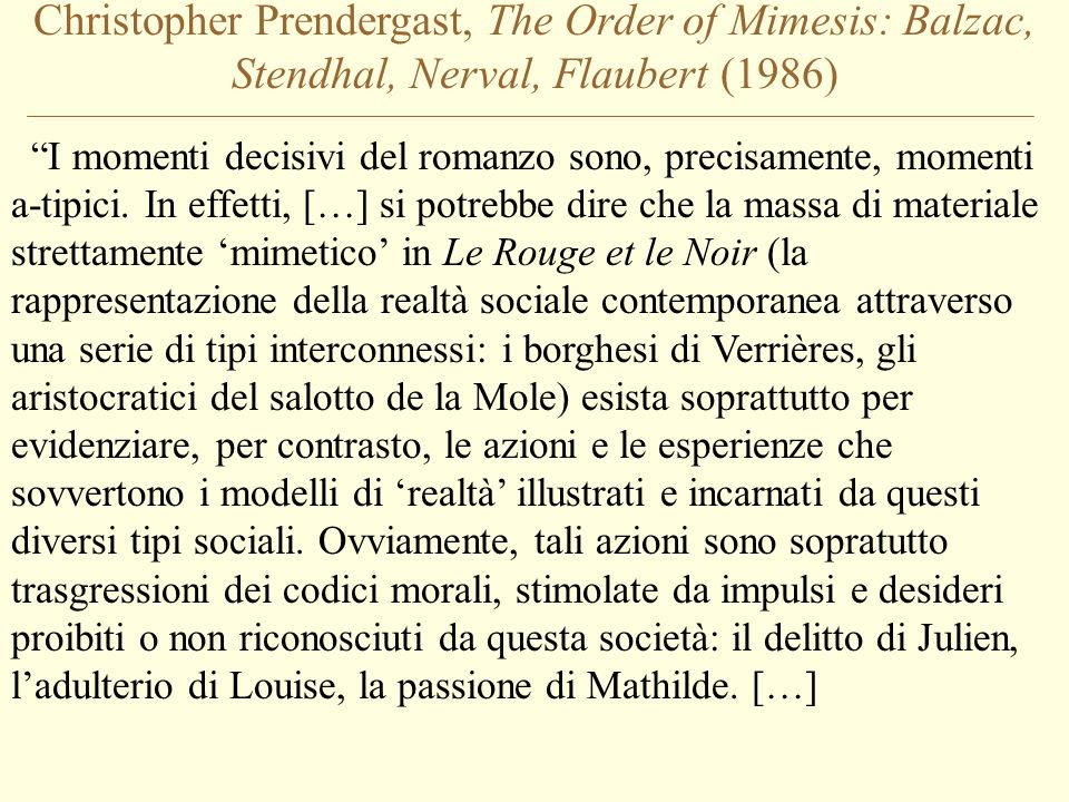 Christopher Prendergast, The Order of Mimesis: Balzac, Stendhal, Nerval, Flaubert (1986)