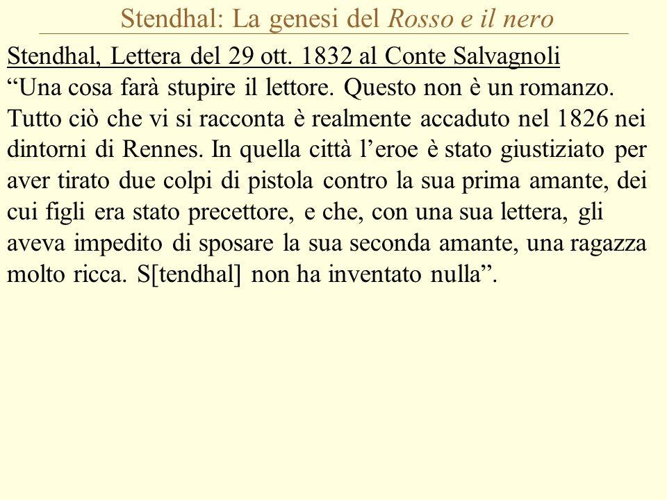 Stendhal: La genesi del Rosso e il nero