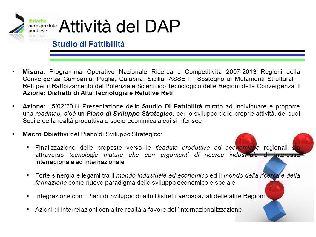 Attività del DAP Studio di Fattibilità
