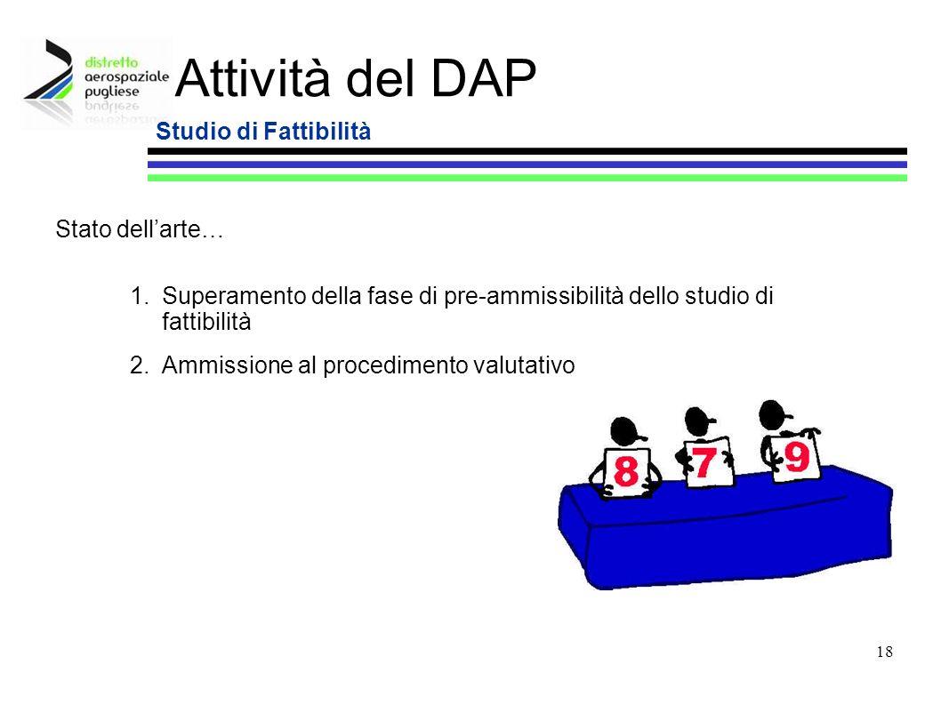 Attività del DAP Studio di Fattibilità Stato dell'arte…