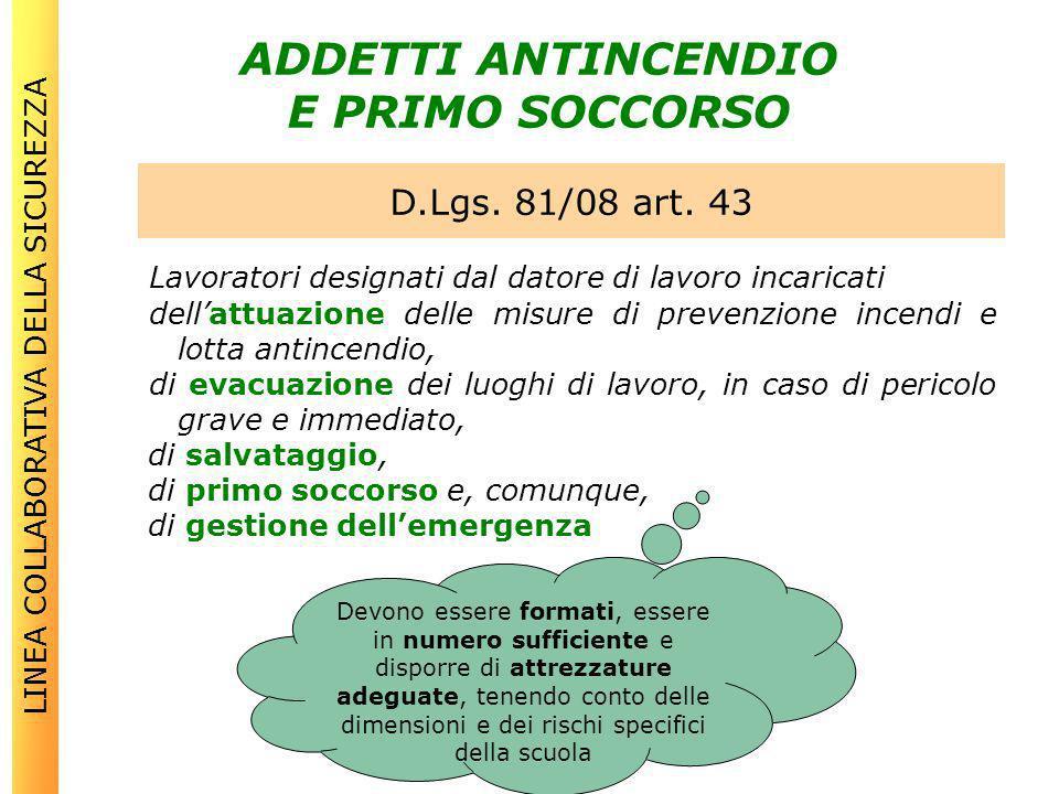 ADDETTI ANTINCENDIO E PRIMO SOCCORSO