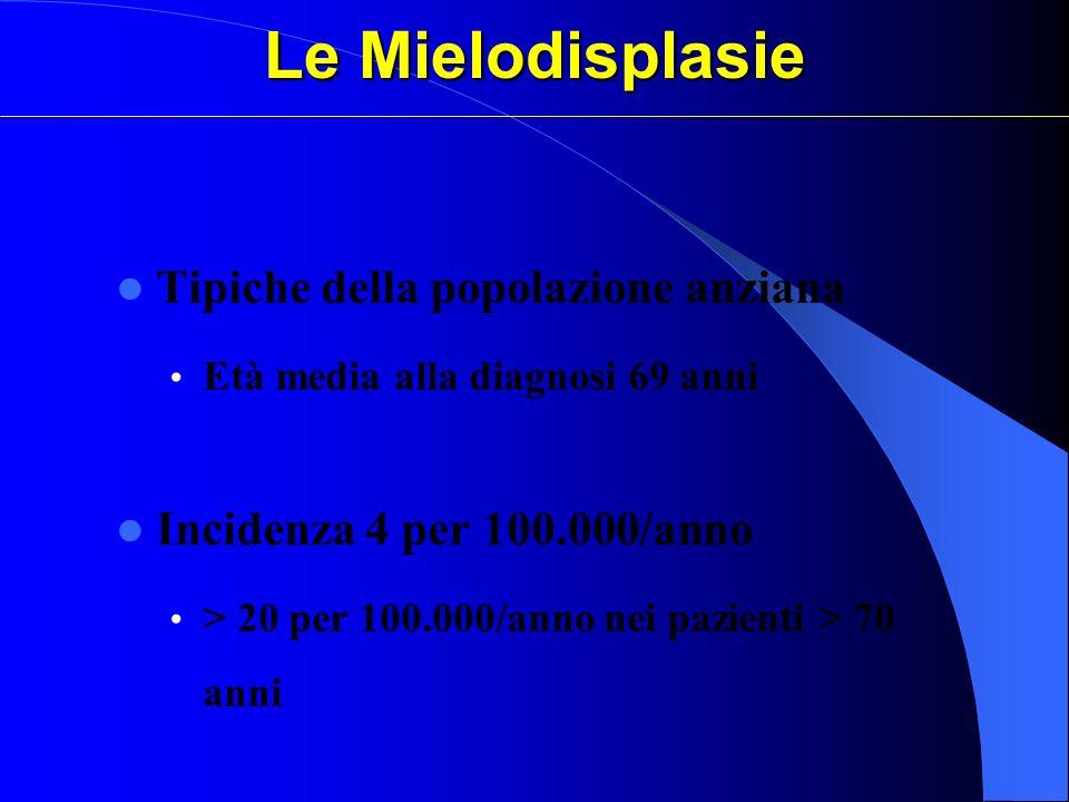 Le Mielodisplasie Tipiche della popolazione anziana