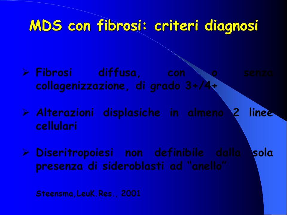 MDS con fibrosi: criteri diagnosi