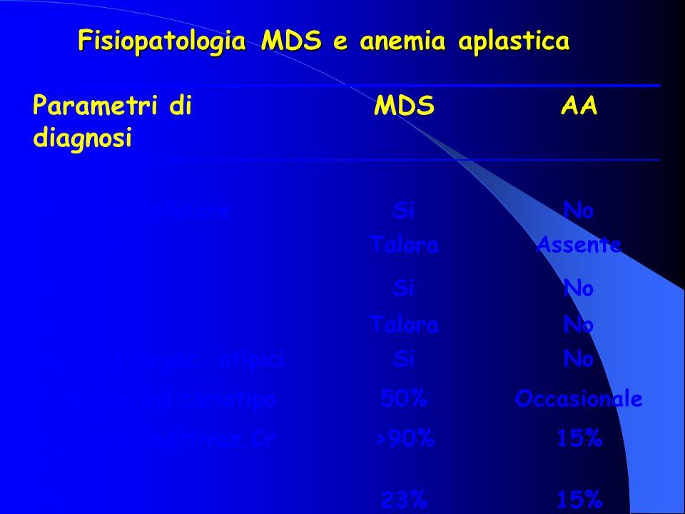 Fisiopatologia MDS e anemia aplastica